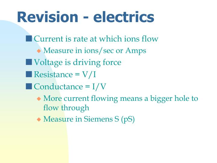 Revision - electrics