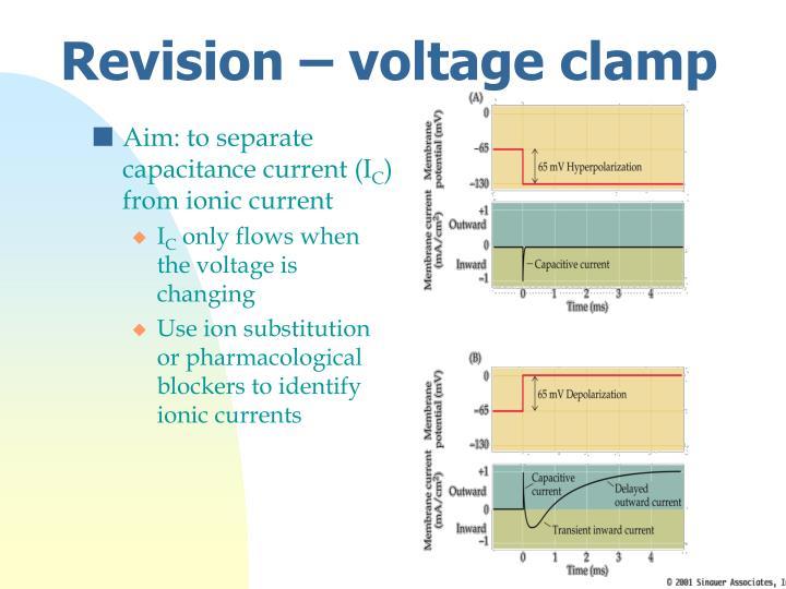 Aim: to separate capacitance current (I