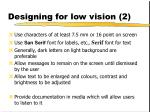 designing for low vision 2