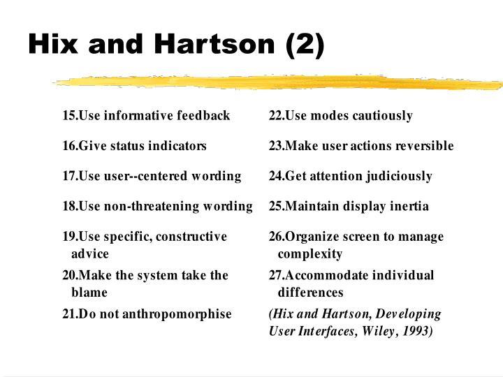 Hix and Hartson (2)