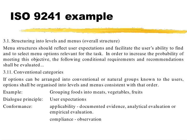 ISO 9241 example