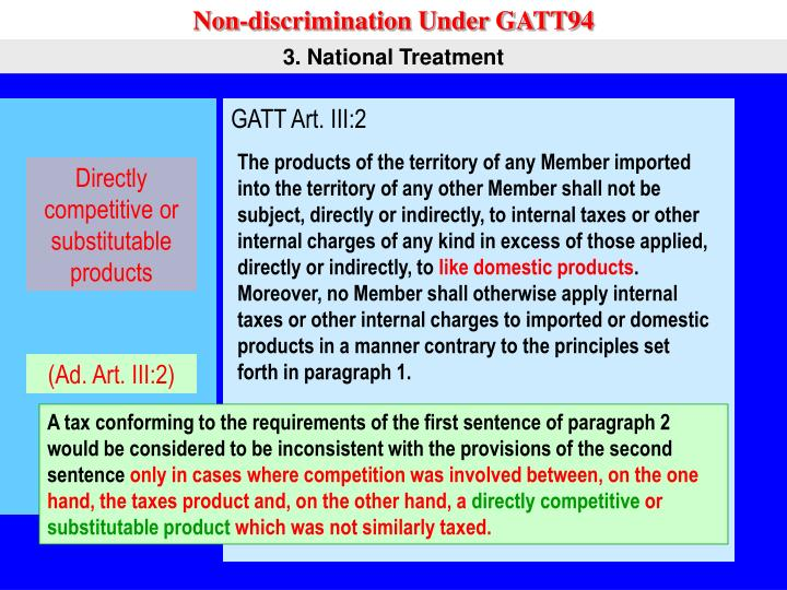 Non-discrimination Under GATT94