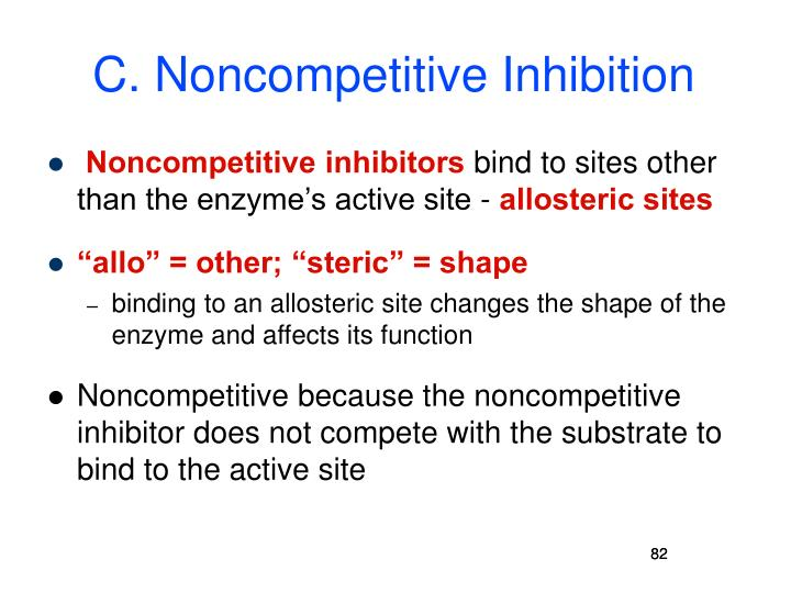 C. Noncompetitive Inhibition