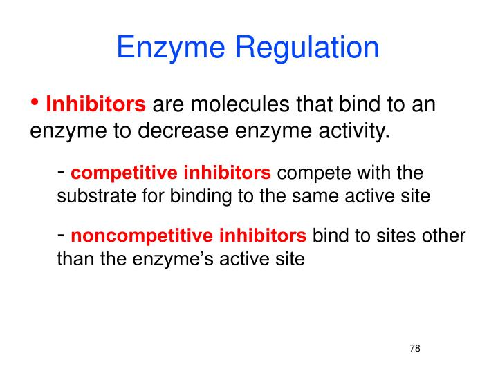 Enzyme Regulation
