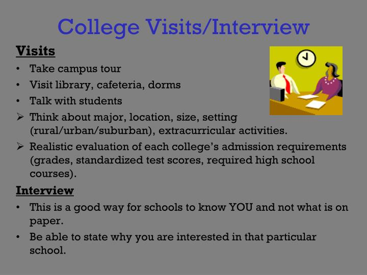 College Visits/Interview