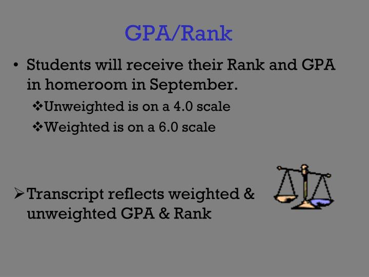 GPA/Rank