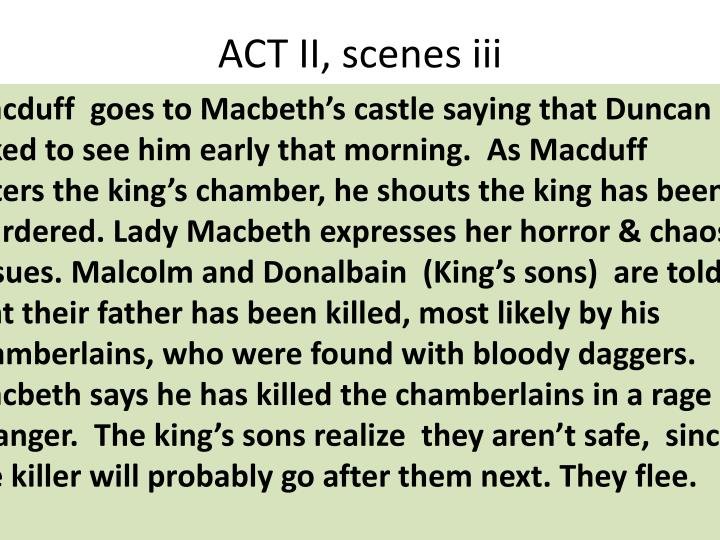 ACT II, scenes iii