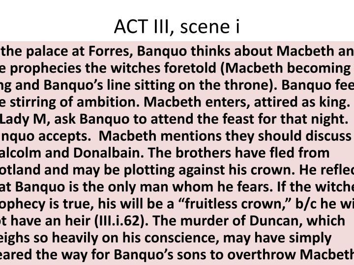 ACT III, scene