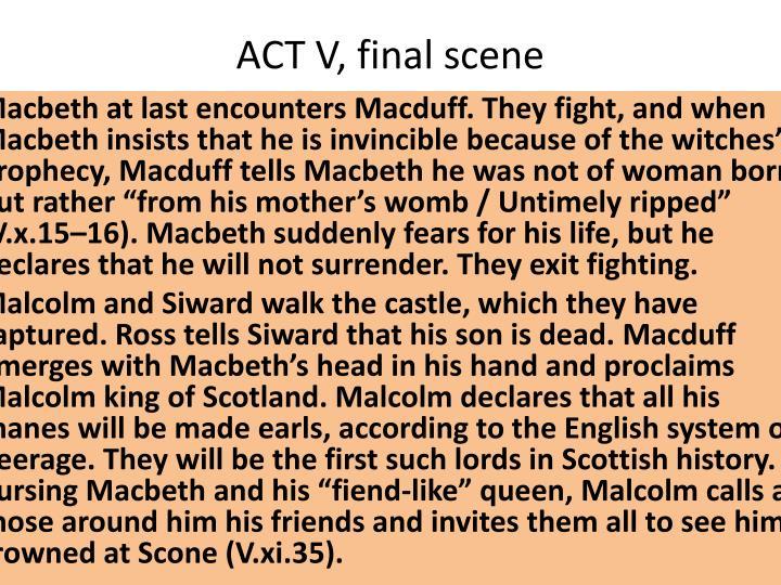ACT V, final scene
