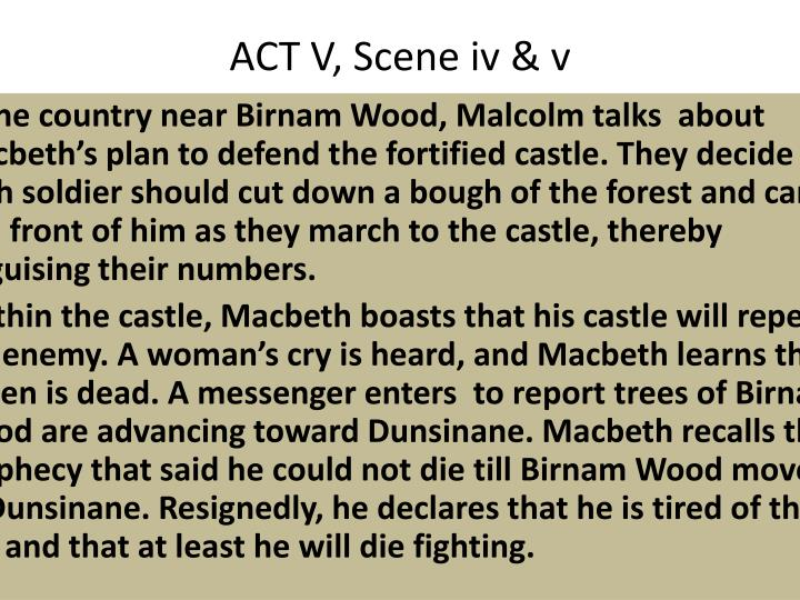 ACT V, Scene iv & v