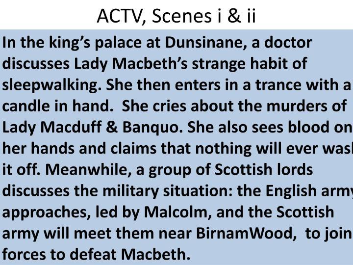 ACTV, Scenes