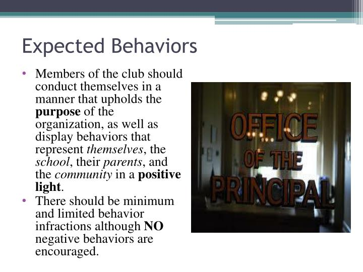 Expected Behaviors