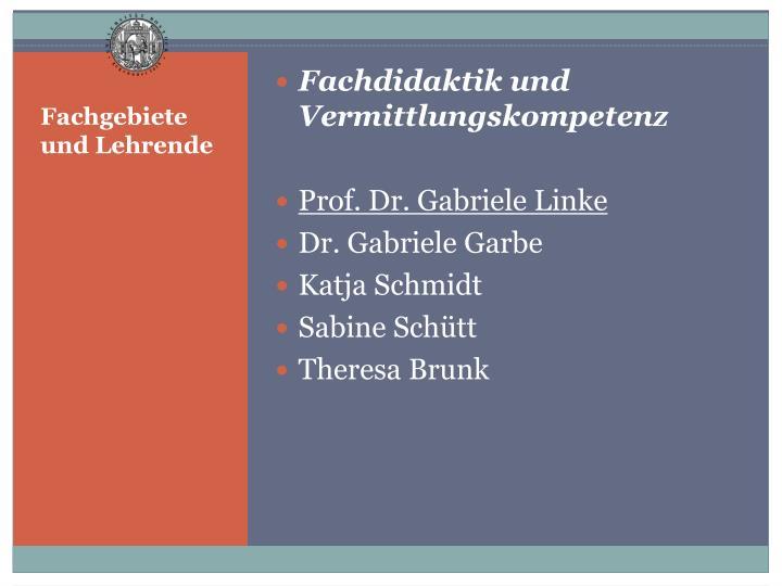 Fachdidaktik und Vermittlungskompetenz