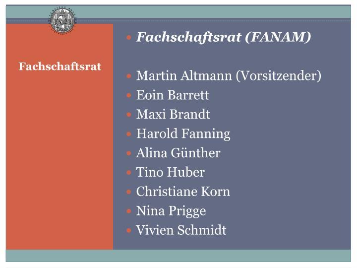 Fachschaftsrat (FANAM)