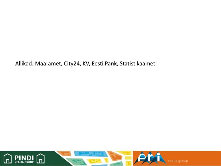 Allikad: Maa-amet, City24, KV, Eesti Pank, Statistikaamet