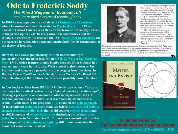 Ode to Frederick Soddy