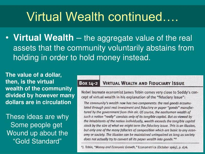Virtual Wealth continued….