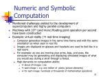 numeric and symbolic computation1