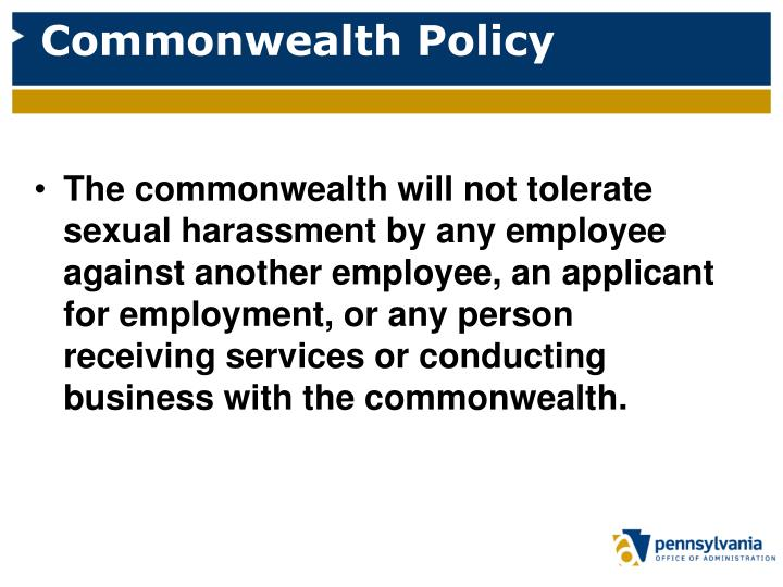 Commonwealth Policy