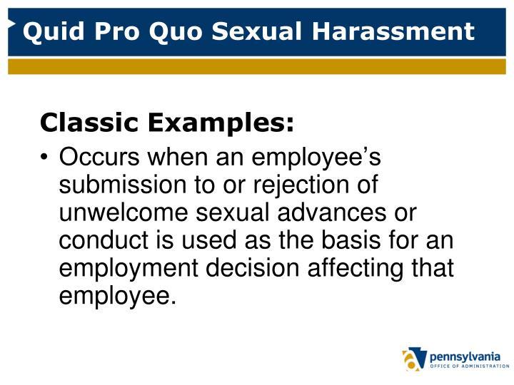 Quid Pro Quo Sexual Harassment