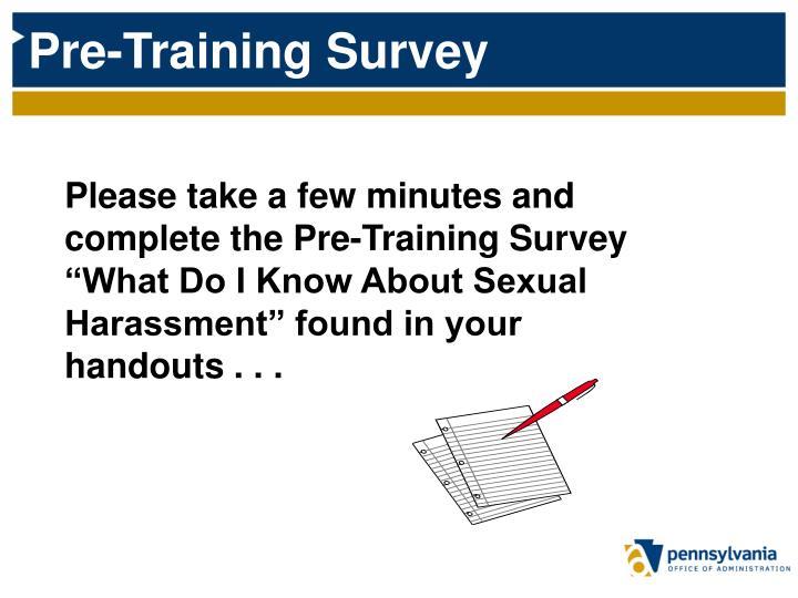 Pre-Training Survey