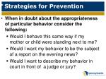 strategies for prevention1