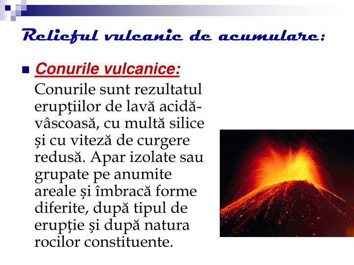 Relieful vulcanic de acumulare: