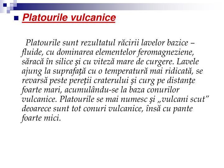 Platourile vulcanice