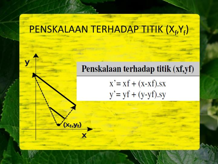 PENSKALAAN TERHADAP TITIK (X