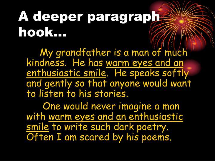 A deeper paragraph hook…