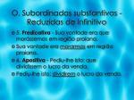 o subordinadas substantivas reduzidas de infinitivo2
