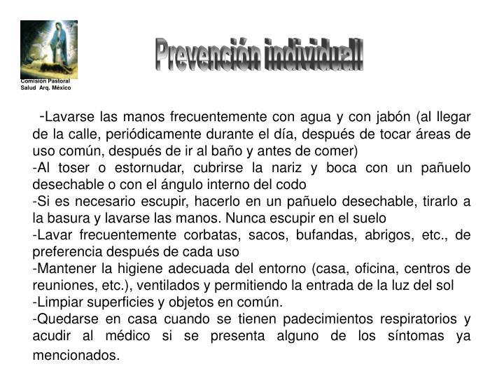 Prevención individuall