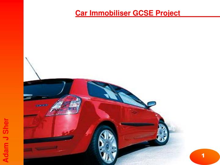 Car Immobiliser GCSE Project