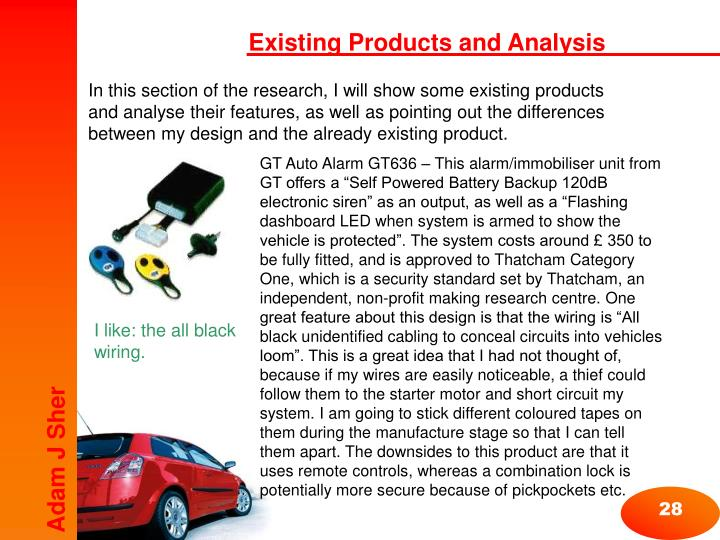 Existing Products and Analysis