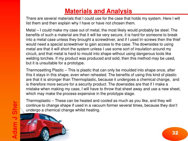 Materials and Analysis