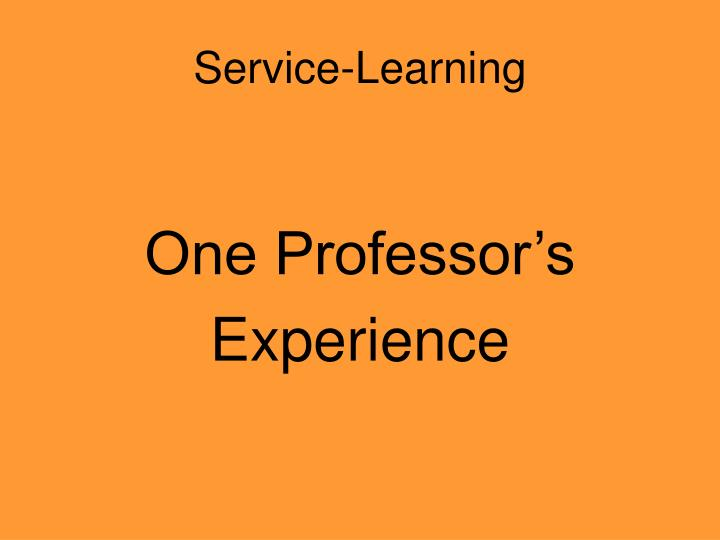 Service-Learning