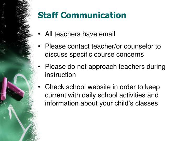 Staff Communication