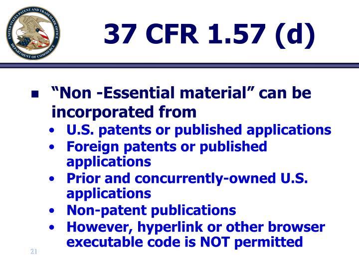 37 CFR 1.57 (d)