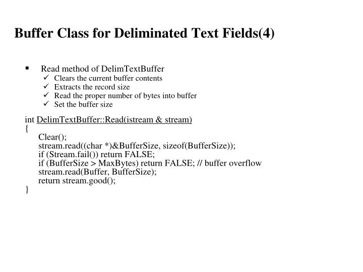 Buffer Class for Deliminated Text Fields(4)