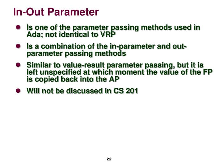 In-Out Parameter