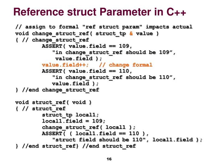 Reference struct Parameter in C++