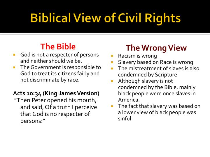 Biblical View of Civil Rights