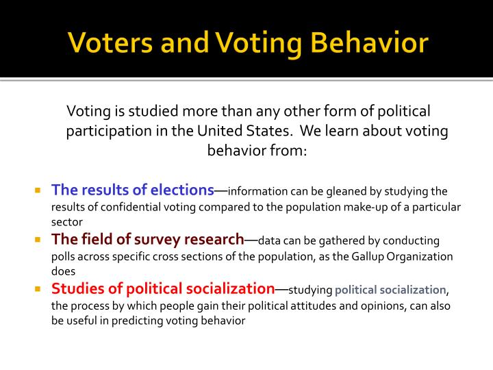Voters and Voting Behavior