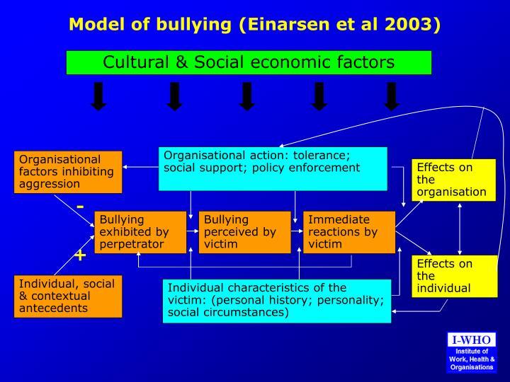 Model of bullying (Einarsen et al 2003)