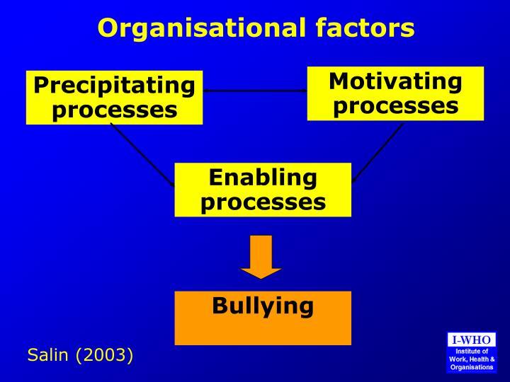 Organisational factors