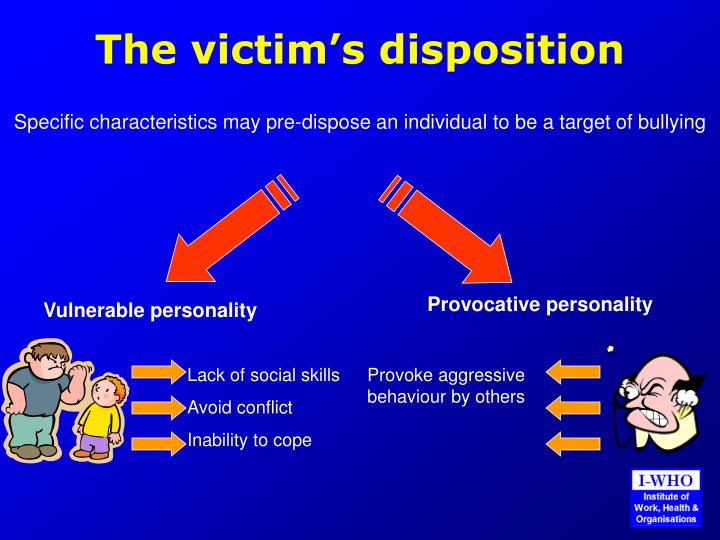 The victim's disposition