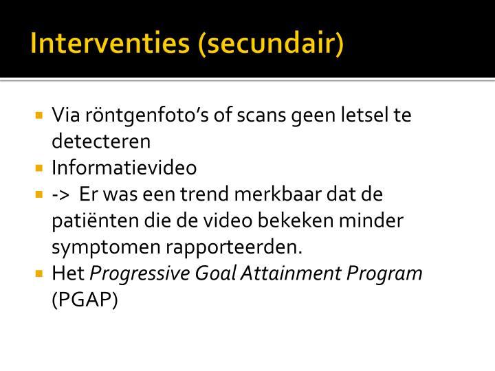 Interventies (secundair)