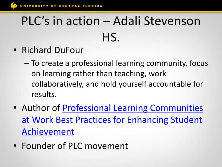 PLC's in action –