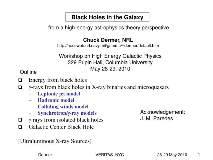 Black holes in the galaxy
