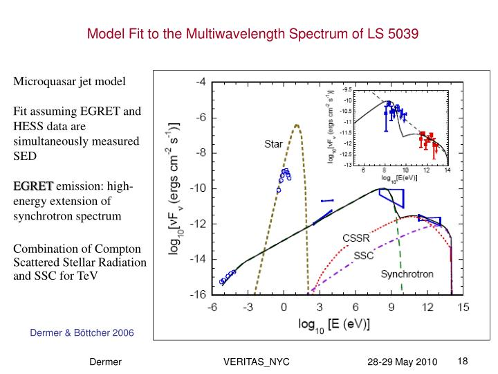 Model Fit to the Multiwavelength Spectrum of LS 5039
